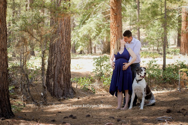 Blaise and Josh's maternity portraits of baby Ender at Galena Creek